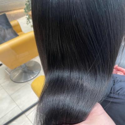 自然な黒染め&髪質改善トリートメント